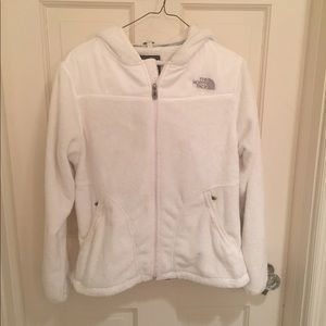 Women's North Face White Fleece Oso Jacket M