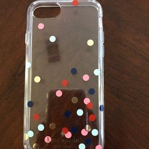 Clear & Polka dot iPhone 7 case by Kate Spade