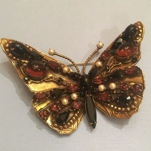Vintage Butterfly Pin Marked Original By Robert