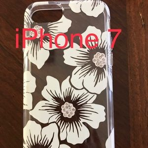 Bling & cream floral iPhone 7 case by Kate Spade