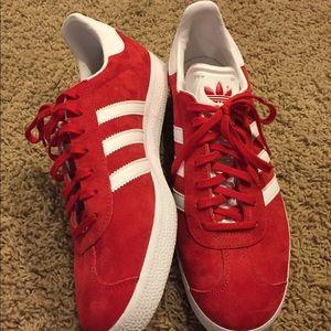 NEW Adidas Men's Suede Red Gazelles- 11.5