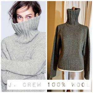 J. Crew 100% Wool Turtleneck Sweater 🐑