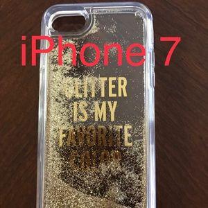 Clear Kate Spade iPhone 7 case w/liquid glitter