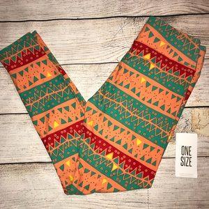 NWT LuLaRoe leggings- orange, red and green