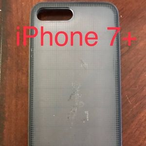 Black graphic Jack Spade iPhone 7+ phone case