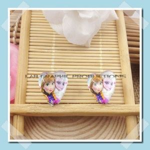 Other - Frozen Princess Elsa Anna Earrings - Clip Ons