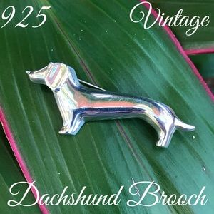 Sterling Silver Taxco Mexico Dachshund Brooch/Pin