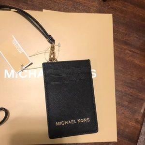 Michael Kors jet set travel lanyard NWT