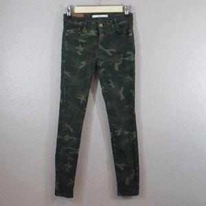 ZARA | army camouflage skinny jeans
