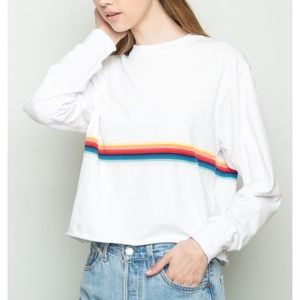 Brandy Melville NWOT Acacia Rainbow Long Sleeve