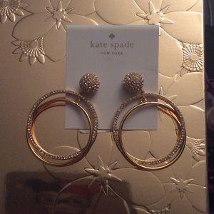Kate spade sparkle hoop earrings