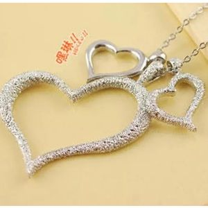 Silver Multiple Heart Necklace