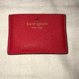 Red Kate Spade Cardholder Wallet