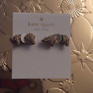 Polar bear earrings by Kate spade
