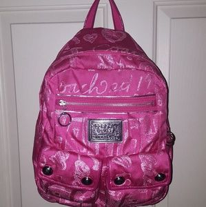 Full Size Coach Poppy Backpack.