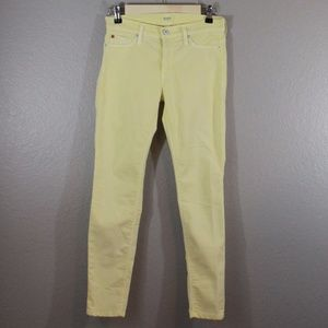 HUDSON | sunny yellow skinny jeans
