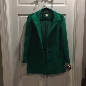 J Crew Green Wool Coat