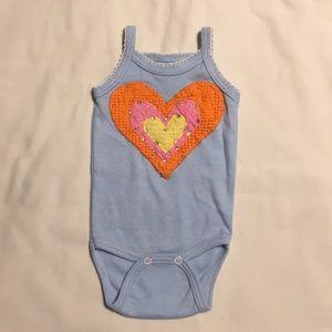 Other - HP Custom blue baby girl newborn chenille onesie