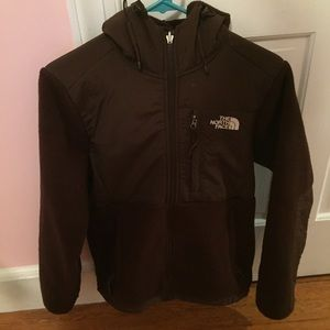 Hooded North Face Denali jacket