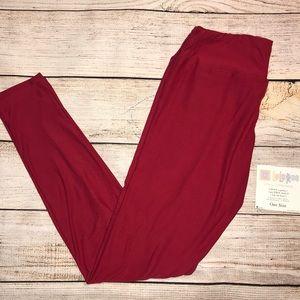 NWT LuLaRoe leggings- ruby red