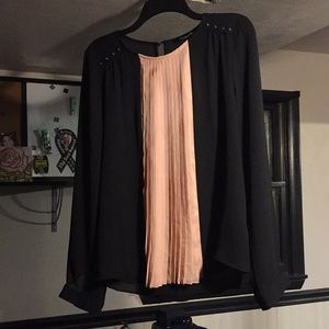 Forever 21 Large Pink and Black Blouse