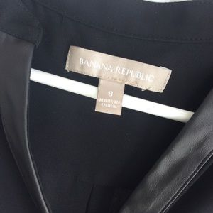 Banana Republic blouse with faux leather detailing