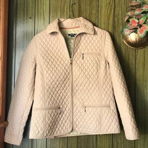 Nautica Women's Tan Quilted Jacket Coat