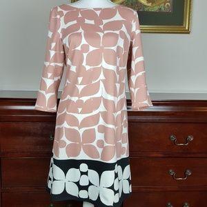 London Times Colorblock Floral Sheath Dress 12