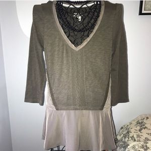Anthropologie Meadow & Rue high low sweater tunic