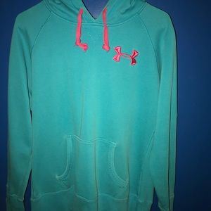 Women's MEDIUM Blue UA Storm hoodie