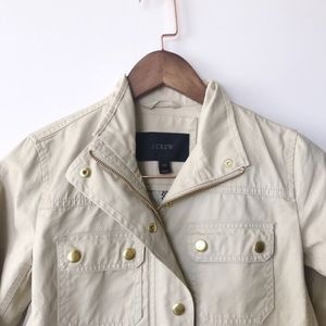 {J. Crew} Downtown Field Jacket, Ivory, NWOT