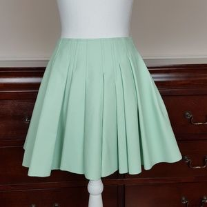 Sam Edelman Mint Faux Leather Mini Skirt Size 2