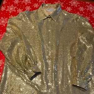 ~Gold~ Shiny Sequined Blouse