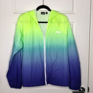 Worn Once - FILA Windbreaker - Seahawks Colors
