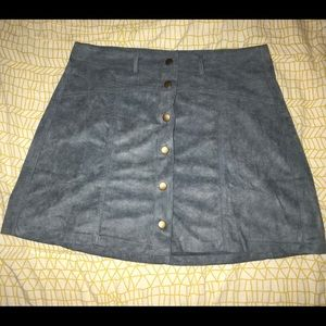Light blue suede bottom up skirt