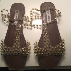 Steve Madden Gold Spike Sandals