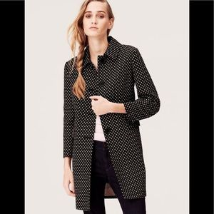 NWOT Ann Taylor LOFT Tall Candy Dot Trench Coat