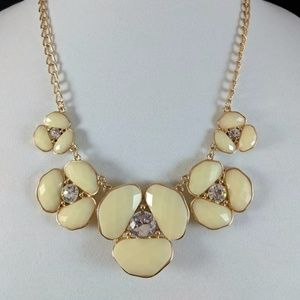 Vintage Accent Necklace Antique Look Off White