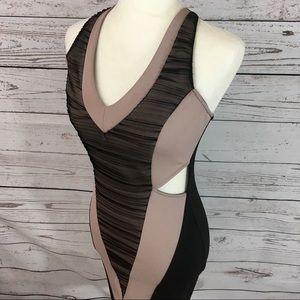 Solemio body con cutout dress