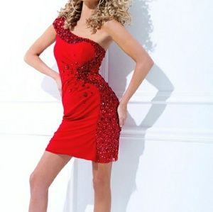Red Jeweled Cocktail Tony Bowls