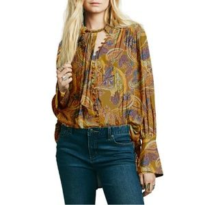 Free People 'Modern Muse' Tie Neck Blouse