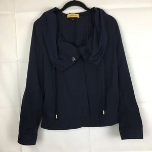 St. John Yellow Label Navy Blue Cowl Neck Jacket