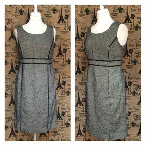 Verona Black & White Shift Dress Size 6