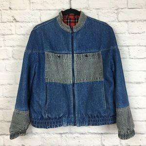 Vintage Reversible Denim & Plaid Jacket