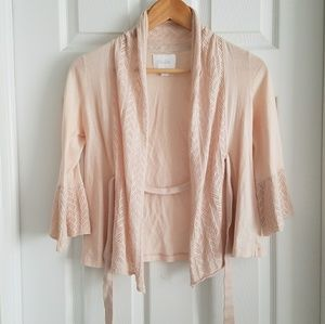 Anthropologie Deletta Rose Tie Cropped Cardigan