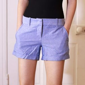 J Crew Periwinkle Blue Chino Summer Shorts