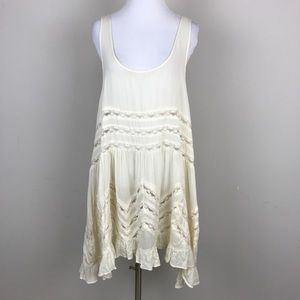 [Free People] Voile And Lace Trapeze Slip Dress M