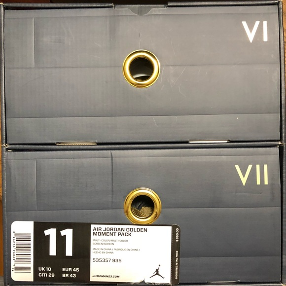 best sneakers 38e39 bef50 Jordan Other - Air Jordan Golden Moments Pack (GMP) VI VII