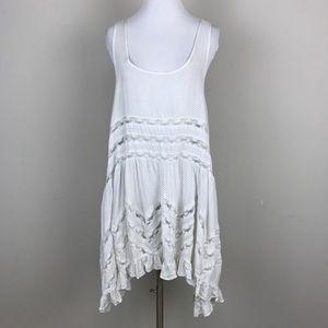 [Free People] Voile Lace Trapeze Slip Dress White