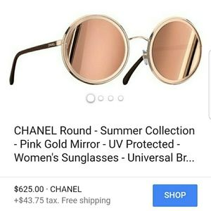 📣REDUCED 2017 Chanel 18kt Round Sunglasses